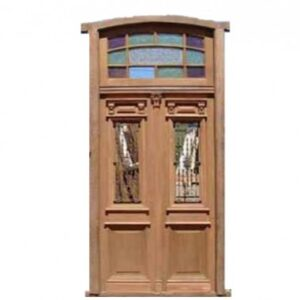 Arched tall double front door