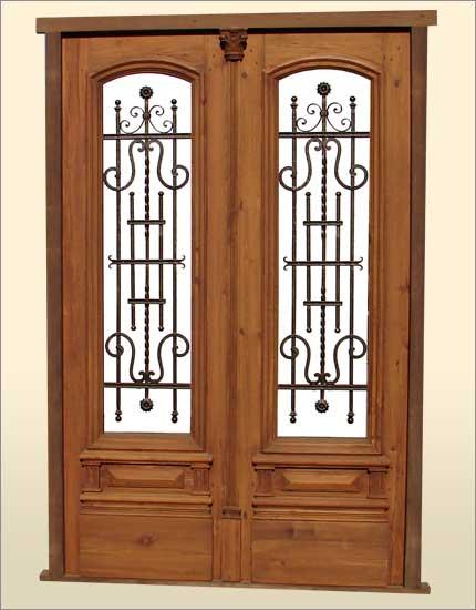 heart pine double door