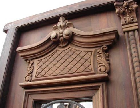 hand carved mahogany
