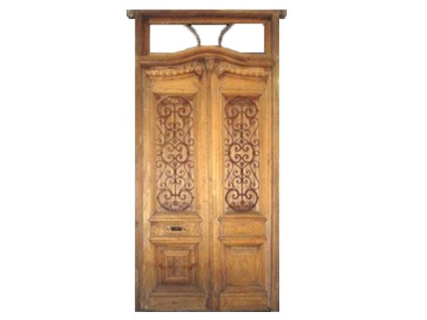 double wooden entry door
